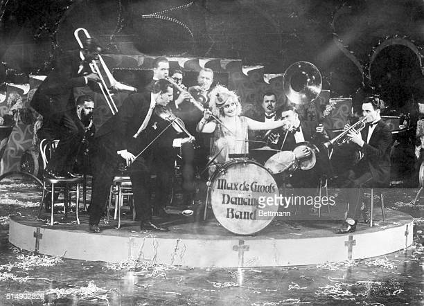 Photo shows a happy Jazz Band in Berlin Germany Undated photograph circa 1920