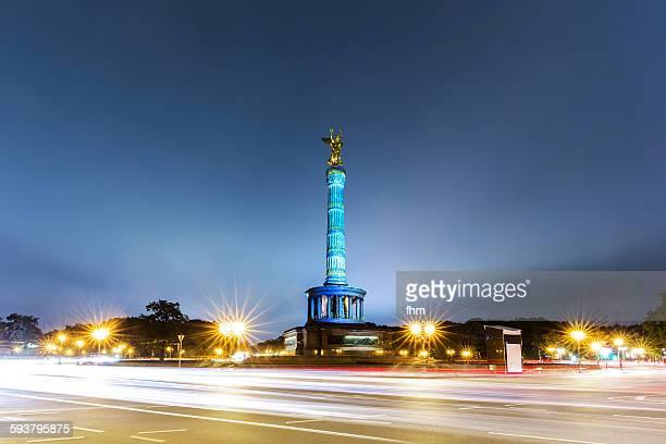 Berlin, Germany: Siegessäule at night