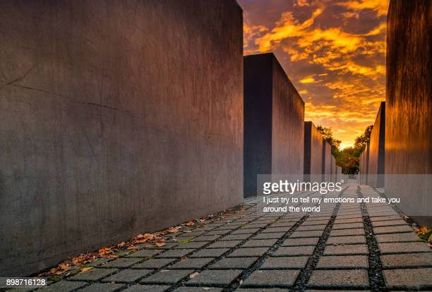 Berlin, Germany, sunset on the Holocaust Memorial, Europe