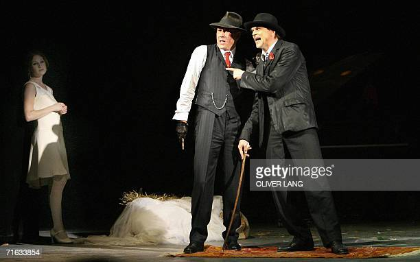 TO GO WITH AFP STORY A picture taken 08 August 2006 in Berlin shows firsttime actor Campino of the expunk band Die Toten Hosen as Mack the Knife...