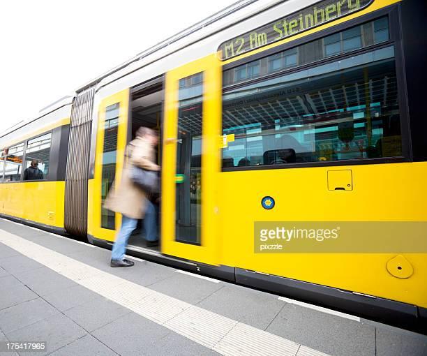 Berlin, Deutschland Straßenbahn öffentlichen Verkehrsmitteln