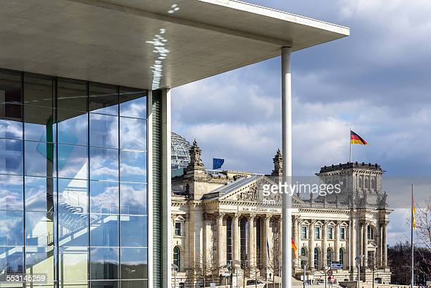 Berlin, government district and Reichstag building