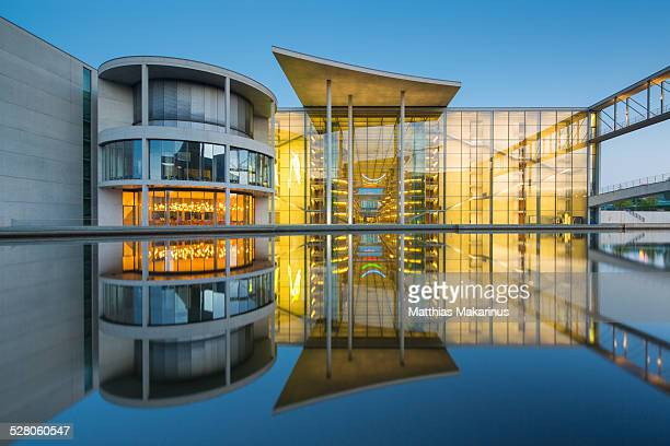 Berlin Government District with Spree Reflection