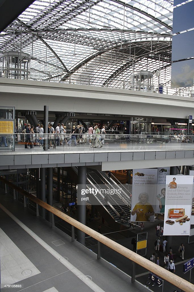 Berlin Hauptbahnhof - Modern Central Station : Stock Photo