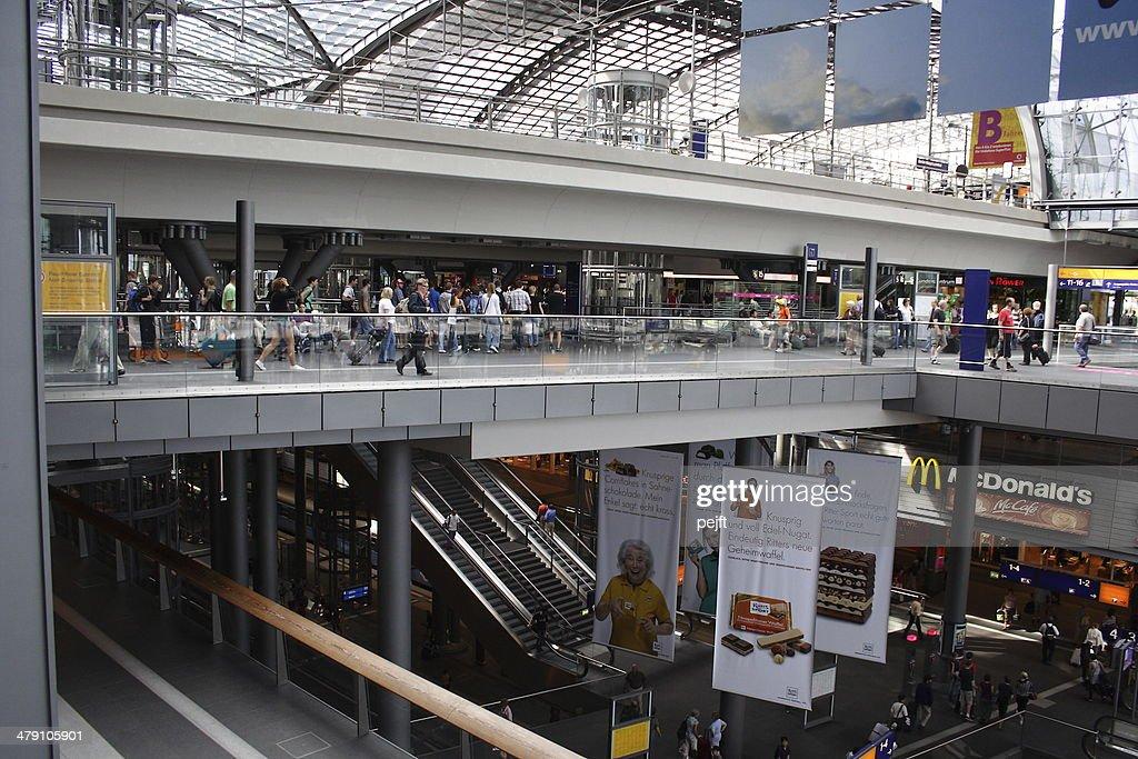 Berlin Hauptbahnhof - Modern Central Station : Stock Photo