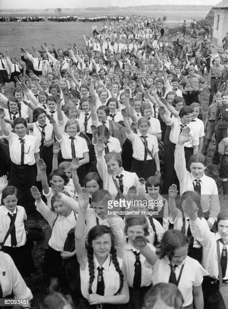 Berlin Hitler Youth?s celebration of May Day, Germany, Finkenkrug, Photograph, 1933 [Maifeier der Berliner Hitlerjugend, Deutschland, Finkenkrug,...