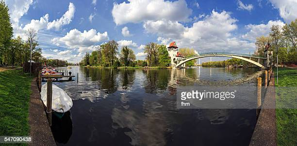 berlin - isle in spree river (insel der jugend/ isle of youth)) - köpenick stock pictures, royalty-free photos & images