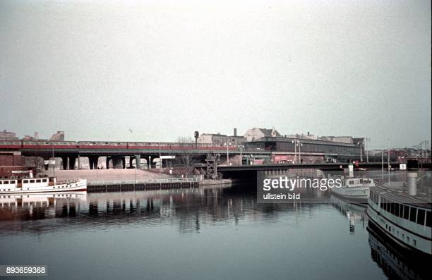 Berlin Jannowitz bridge at the Spree river in BerlinMitte