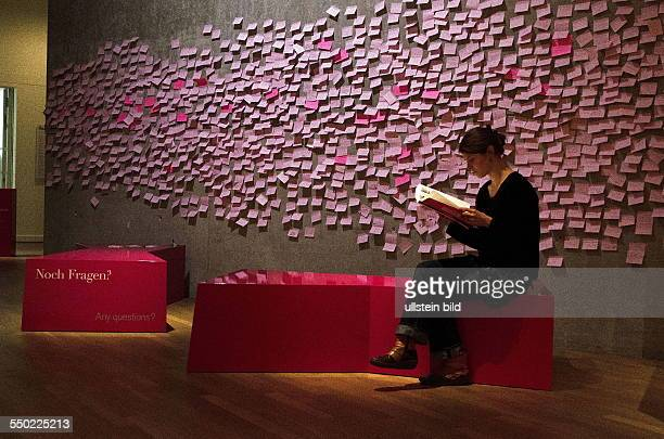 Berlin Jewish Museum 'What you always wanted to know about Jews' exhibition Wall with visitors' questions