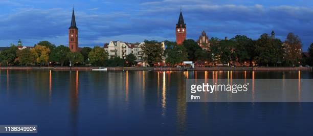 berlin köpenick at blue hour (berlin, germany) - köpenick stock pictures, royalty-free photos & images
