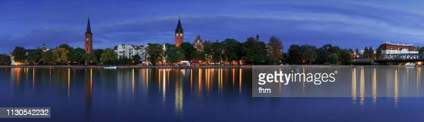 berlin köpenick - panorama at blue hour (berlin, germany) - köpenick stock pictures, royalty-free photos & images