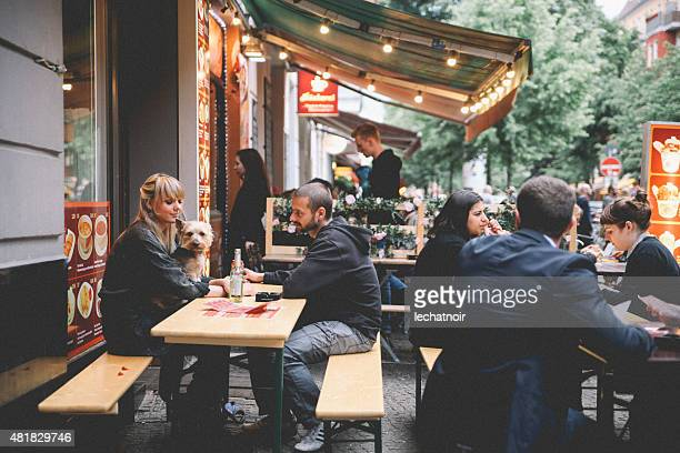 berlin kreuzber cafe - berlin stock pictures, royalty-free photos & images