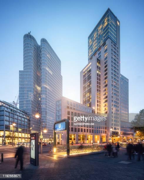 berlin kudamm city west - kurfürstendamm stock pictures, royalty-free photos & images