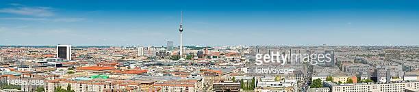 Berlin landmarks cityscape panorama