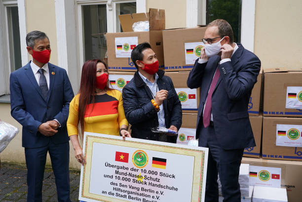 DEU: Berlin Receives Protective Masks And Gloves Donated By Vietnamese Charity