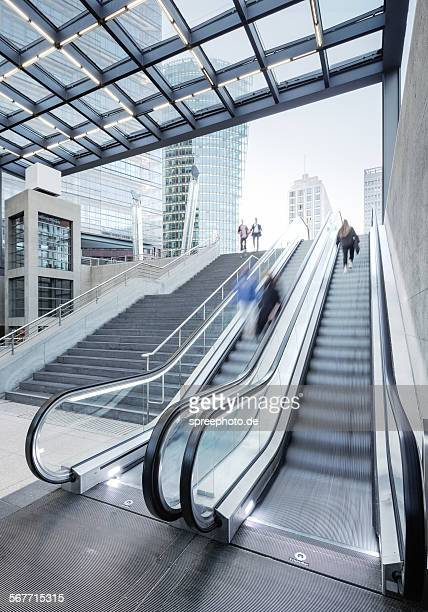 Berlin modern architecture with escalators