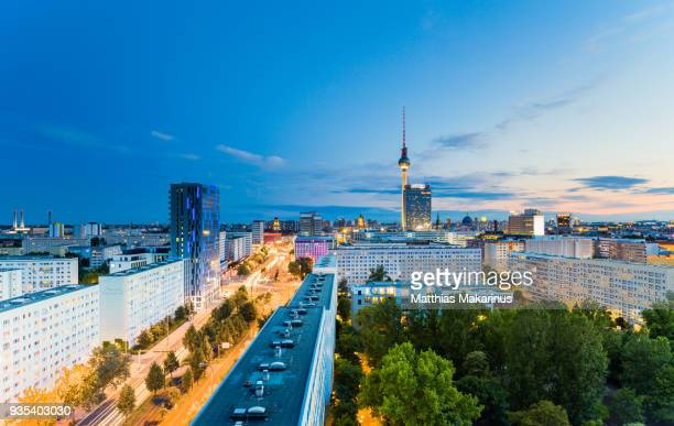 Berlin Modern Summer Night Skyline