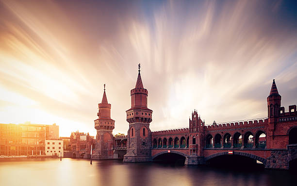 Berlin Oberbaum Bridge With Dramatic Sky Wall Art