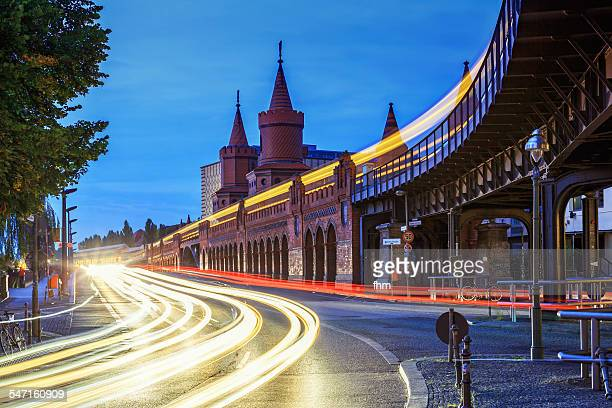 Berlin, Oberbaumbrücke at rush hour