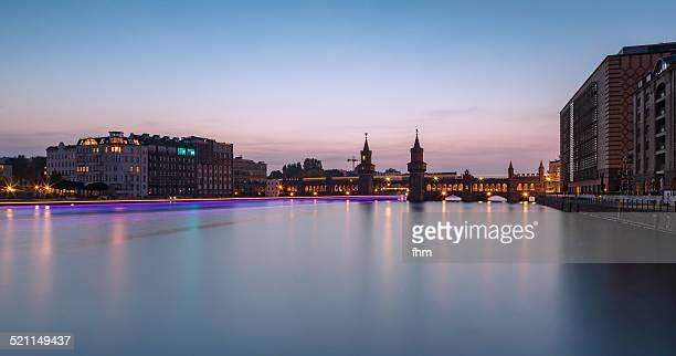 Berlin Oberbaumbrücke - sunset in the city