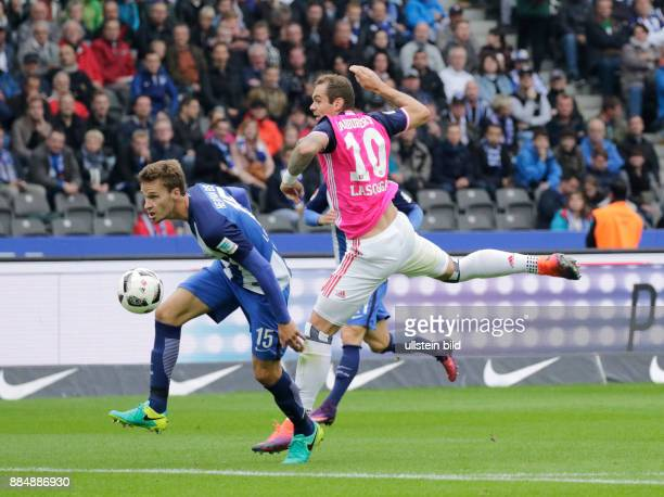 Berlin Olympiastadion 1 Bundesliga Saison 2016/17 Hertha BSC Hamburger SV 6 Spieltag FotoSebastian Langkamp Hertha BSC PLasogga Hamburger SV