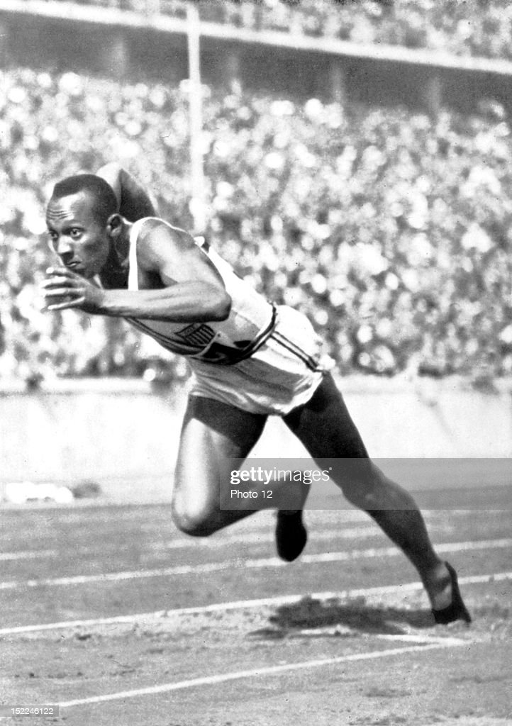 Berlin Olympic Games, Jesse Owens, the fastest runner in the world, 1936, Germany, Private collection. : News Photo