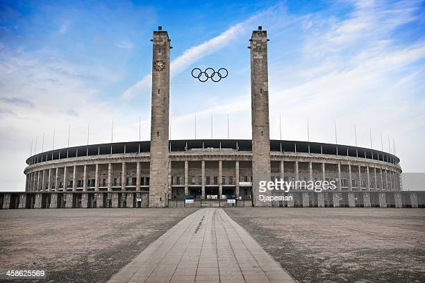 berlin olympic stadium - the olympic games stock pictures, royalty-free photos & images