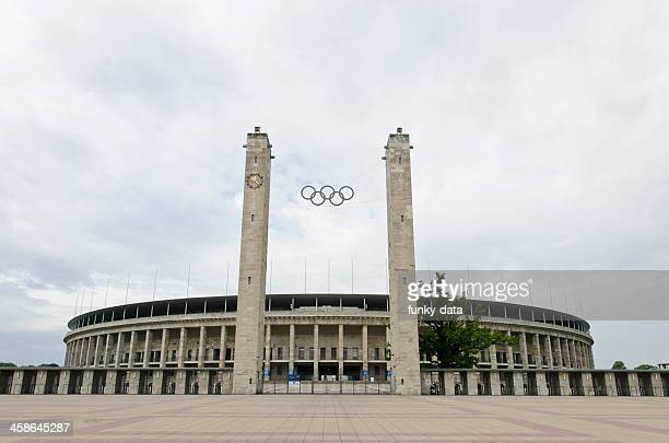 berlin olympic stadium - olympic stadium stock pictures, royalty-free photos & images