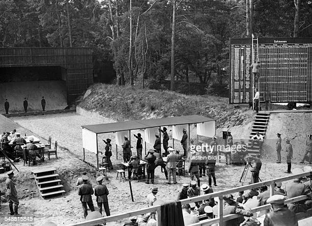 Berlin Olympics 1936 Pentathlon Shooting sports View from the grand stands on the shooting range in Ruhleben August 1936 Photographer...