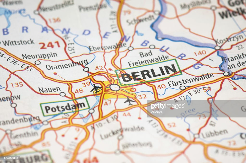 Berlin On A Map Stock Photo | Getty Images