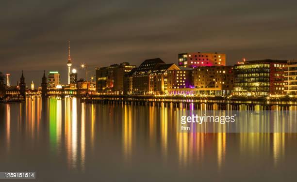 berlin panorama kreuzberg-friedrichshain - berlin stock pictures, royalty-free photos & images