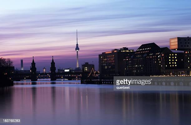 Berlin Panorama-Sonnenuntergang