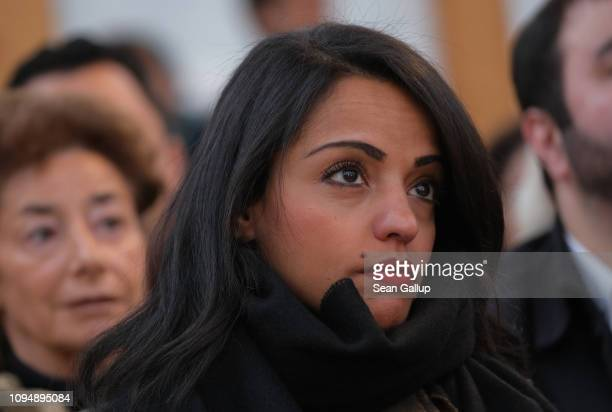 Berlin politician Sawsan Chebli attends the finissage of the House of One temporary structure on January 16 2019 in Berlin Germany The House of One...