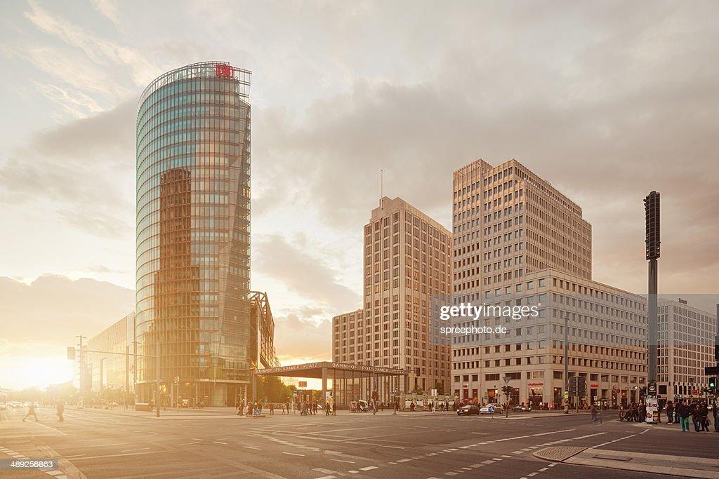 Berlin Potsdamer Platz with sunbeam : Stock Photo