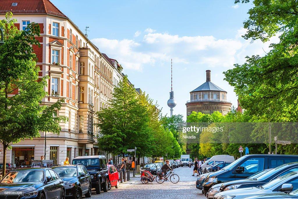 Berlin Prenzlauer Berg with TV Tower : Stock Photo