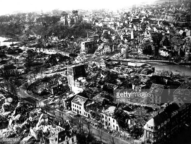 Berlin reduced to rubble and ruins May 1945 Germany