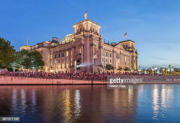 Berlin Reichstag and Spree river