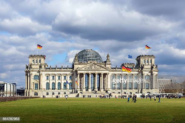 berlin, reichstag building - bundestag stock photos and pictures