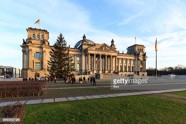 Berlin, Reichstag building with christmas tree