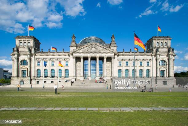 berlin - reichstag german parliament building (front) - monetary policy stock pictures, royalty-free photos & images