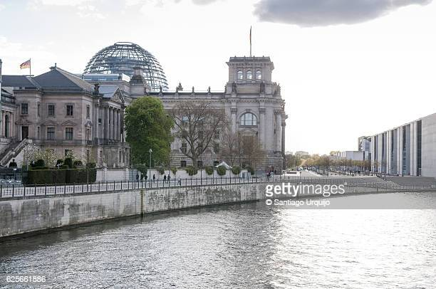 Berlin Reichtstag with Spree river