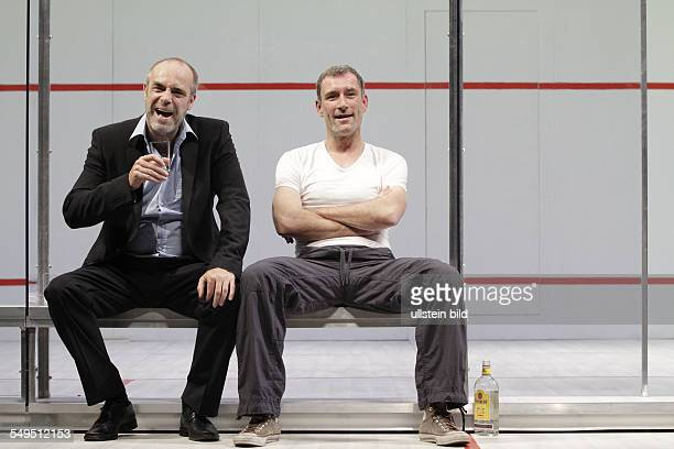'Betrayal' by Harold Pinter actor Heikko Deutschmann as Jerry and Peter Kremer as Robert