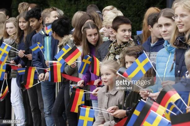 Berlin Schloss Bellevue Staatsbesuch Ihrer Majestäten König Carl XVI Gustaf und Königin Silvia von Schweden