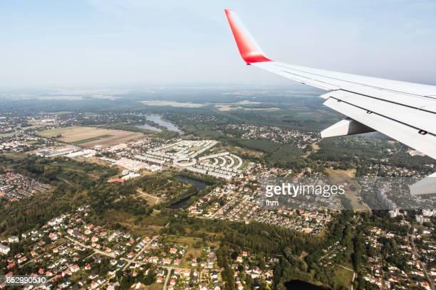 Berlin - seen from a landing aircraft (Berlin/ Germany)