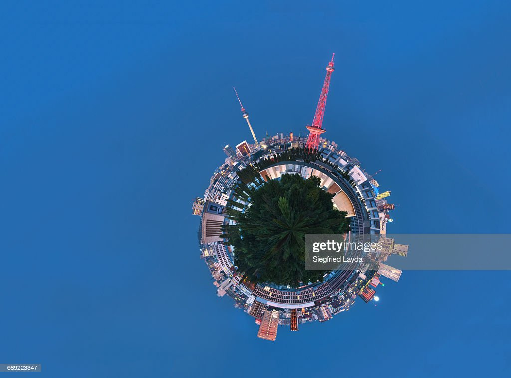 Berlin Skyline at dusk. : Stock Photo