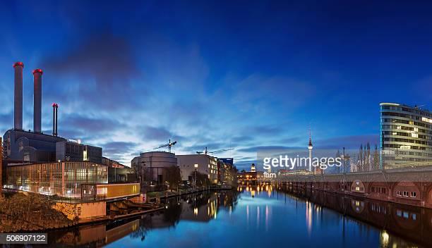 Berlin Skyline at Spree River