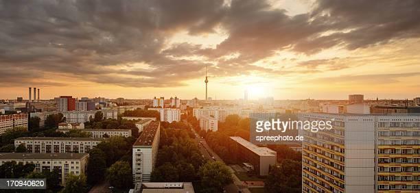 Berlin Skyline at Sunset with Fernsehturm