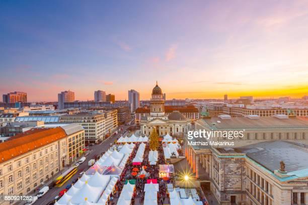 Berlin Skyline Christmas Market Gendarmenmarkt
