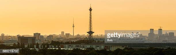 Berlin - skyline in a soft sunrise, with TV-Tower and Radiotower