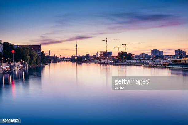 Berlin Skyline Langzeitbelichtung
